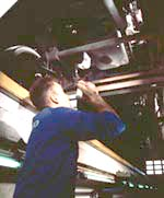 Checking the underside of a vehicle